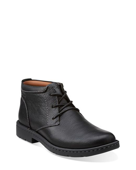Clarks | Black Clarks 'stratton - Limit' Plain Toe Boot for Men | Lyst