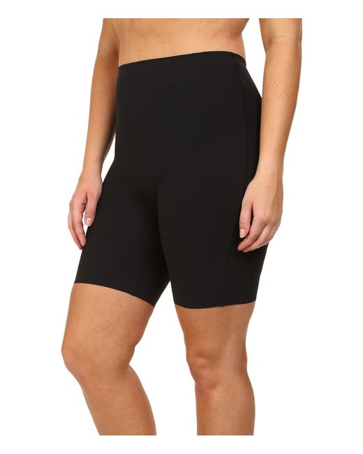 Yummie By Heather Thomson | Black Plus Size Virginia Mid Waist Shorts | Lyst