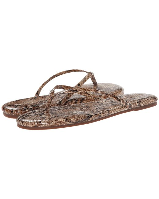 Yosi Samra | Natural Roee Snake Leather Flip Flop | Lyst