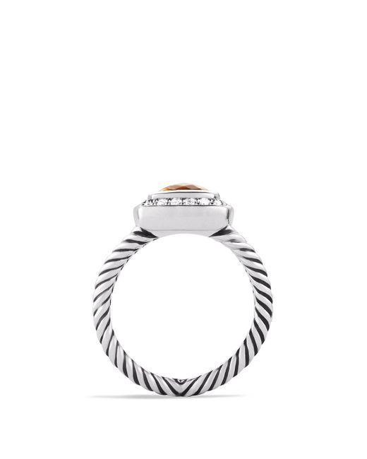 David Yurman | Metallic Petite Albion Ring With Citrine & Diamonds | Lyst