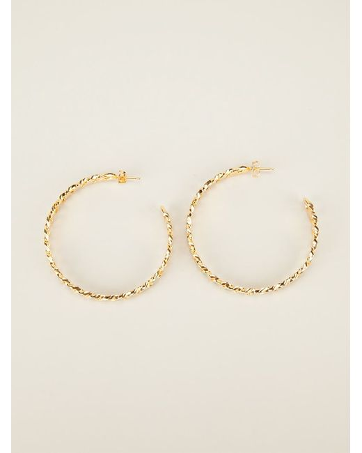Aurelie Bidermann | Green 'waikiki' Hoop Earrings | Lyst