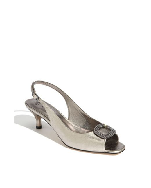 J. Reneé | Metallic 'classic' Sandal | Lyst