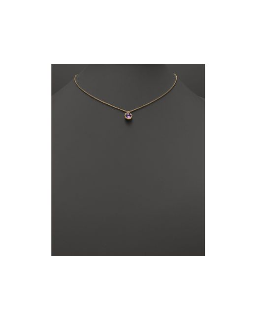 "Marco Bicego | Metallic 18k Gold & Amethyst Delicati Pendant Necklace, 16.5"" | Lyst"