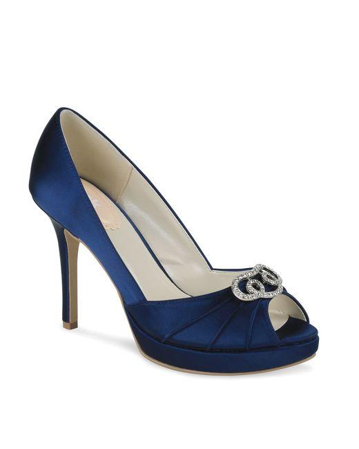 paradox pink lavish platform peep toe shoes in blue