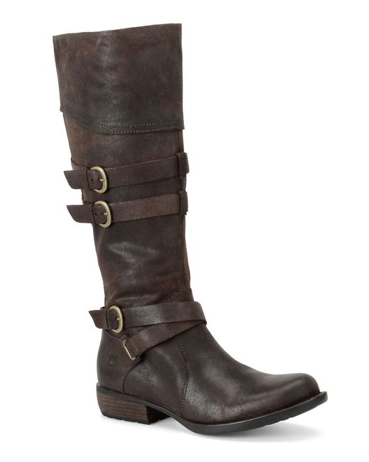 born odom buckle boots in brown save 6 lyst