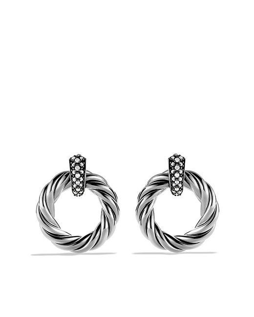 David Yurman | Metallic Metro Earrings With Diamonds | Lyst