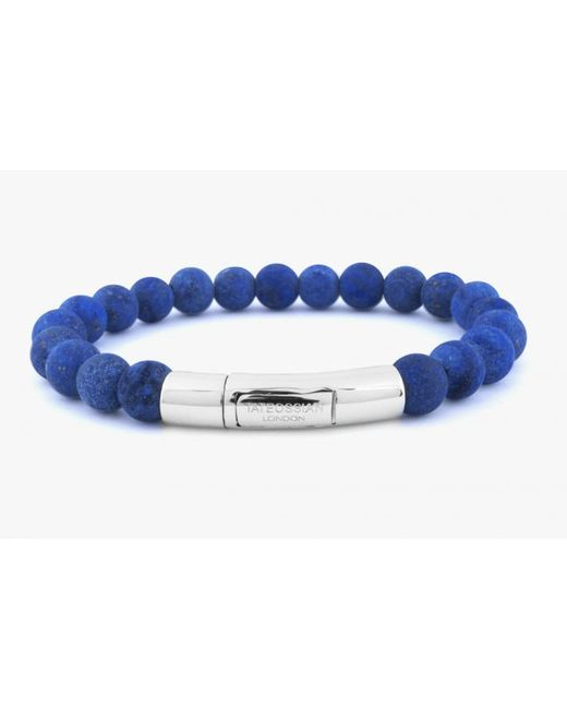 Tateossian | Semi-precious Blue Lapis Stone Beaded Bracelet for Men | Lyst
