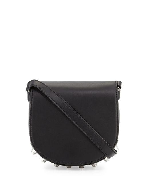 Alexander Wang | Black Lia Mini Leather Saddle Bag | Lyst