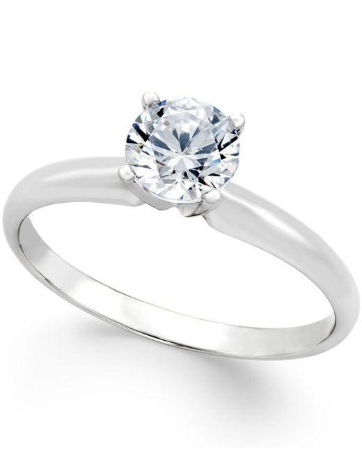Macy's Certified Diamond Engagement Ring (3/4 Ct. T.w.) In