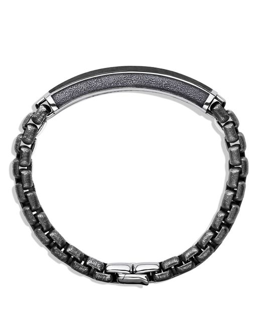 David Yurman | Metallic Meteorite Id Bracelet for Men | Lyst