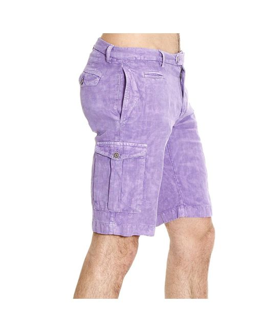 Etro | Purple Trouser Pants Short Cargo Linen for Men | Lyst