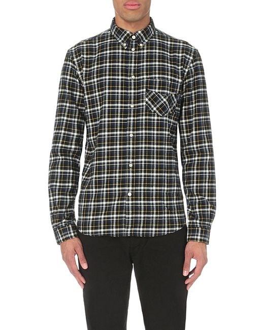 Paul smith slim fit checked flannel shirt for men in for Mens slim fit flannel shirt