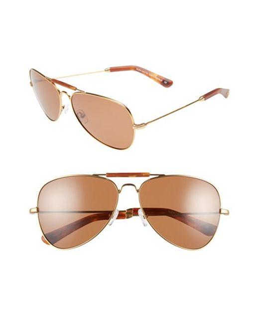 Freida Rothman | Metallic 'alex' 60mm Unisex Aviator Sunglasses | Lyst