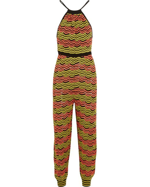 Crochet Jumpsuit : missoni Crochet-knit Jumpsuit in Multicolor (Yellow) Lyst