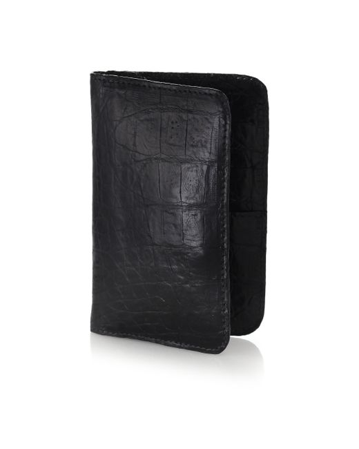 Santiago Gonzalez | Black Crocodile Small Wallet for Men | Lyst