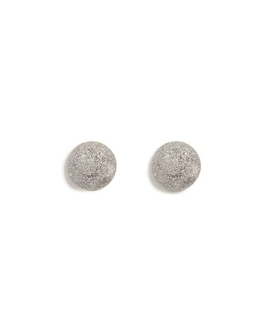 Carolina Bucci | 18k White Gold Sparkly Half-ball Earrings | Lyst