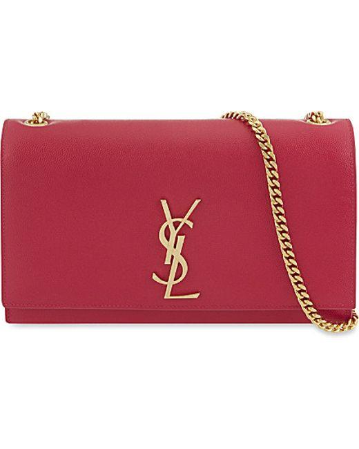 Saint Laurent | Red Monogram Medium Leather Shoulder Bag | Lyst