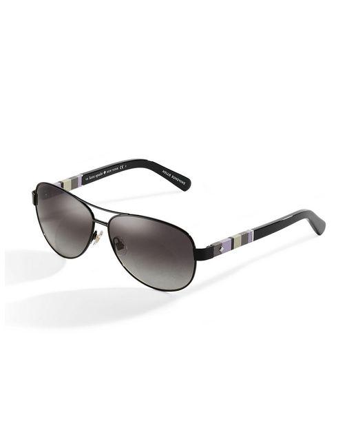 Kate Spade | Black Classic Aviator Sunglasses | Lyst
