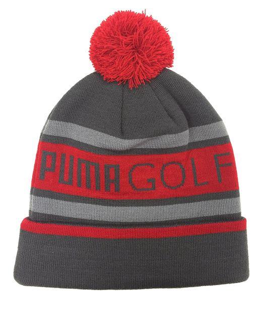 PUMA | Red Pom Beanie for Men | Lyst