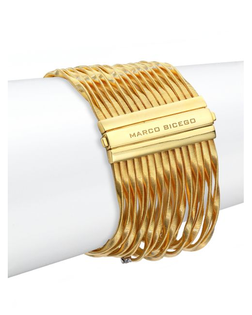 Marco Bicego | Metallic Marrekech Diamond & 18k Yellow Gold Multi-strand Bracelet | Lyst