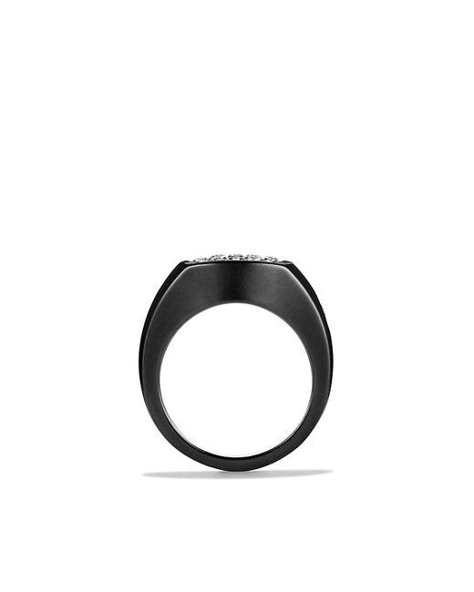 David Yurman | Pavé Pinky Ring With Diamonds And Black Titanium for Men | Lyst