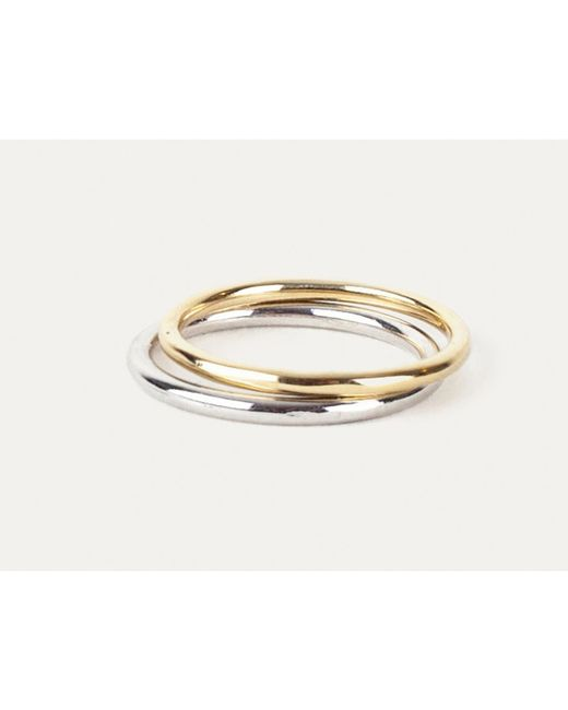 Grace Lee | Metallic Uniform Ring In Solid Gold | Lyst