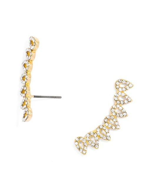 BaubleBar | Metallic Droplet Pave Ear Crawlers | Lyst