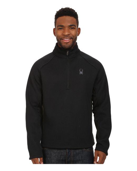 Spyder | Black Pitch Half Zip Heavy Weight Core Sweater for Men | Lyst