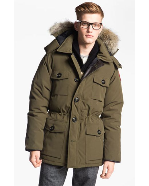 Canada Men S Sevens: Canada Goose 'banff' Slim Fit Parka With Genuine Coyote