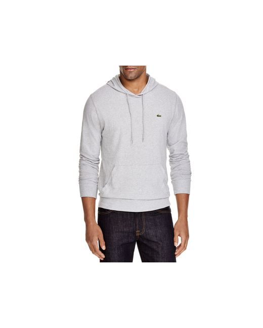 Lacoste | Metallic Cotton Hoodie for Men | Lyst