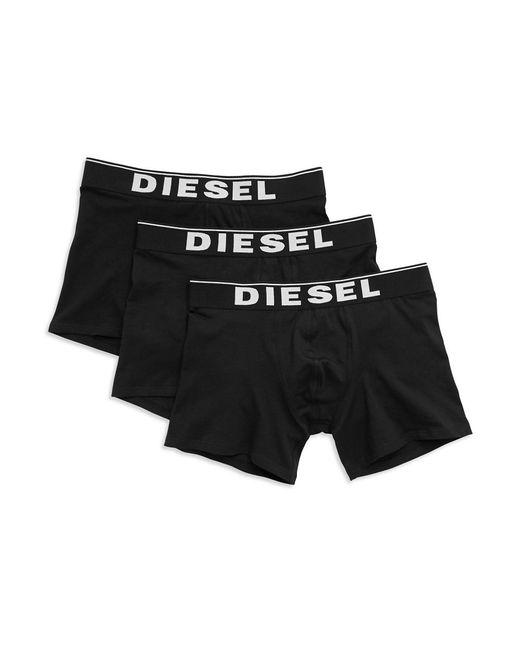 DIESEL   Black 3-pack Long Boxers for Men   Lyst
