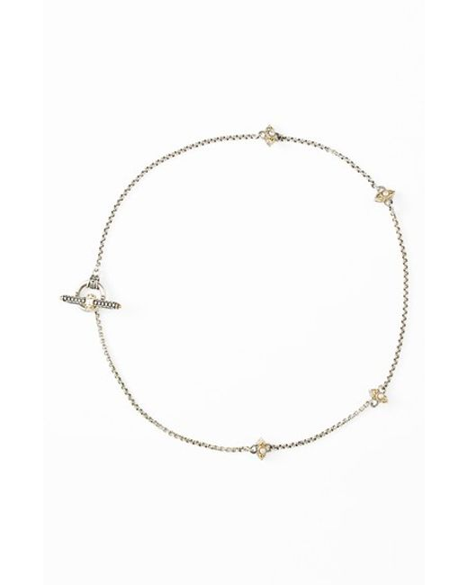 Konstantino | Metallic 'amphitrite' Pearl Station Necklace | Lyst