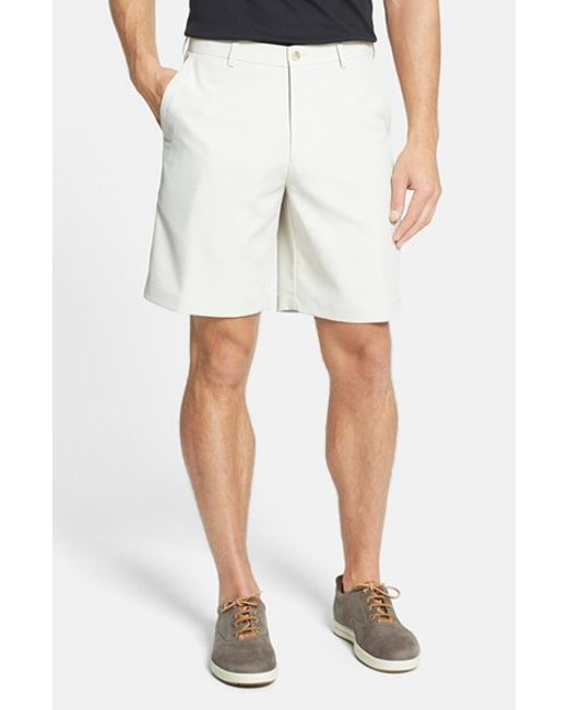 Peter Millar | White 'salem' Flat Front Performance Shorts for Men | Lyst