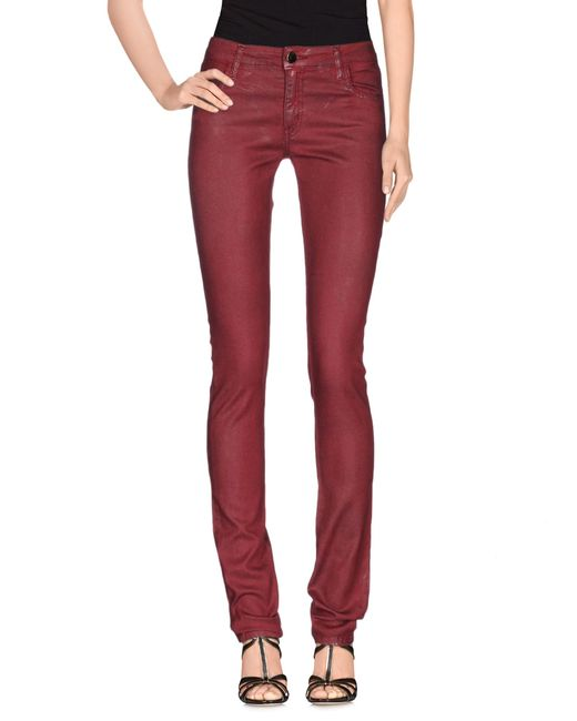 75 Faubourg | Red Denim Pants | Lyst