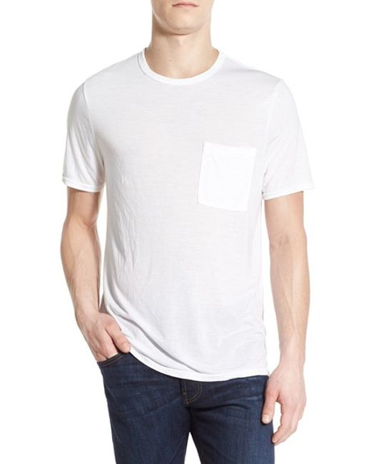 Michael stars jersey crewneck t shirt in white for men lyst for Michael stars tee shirts