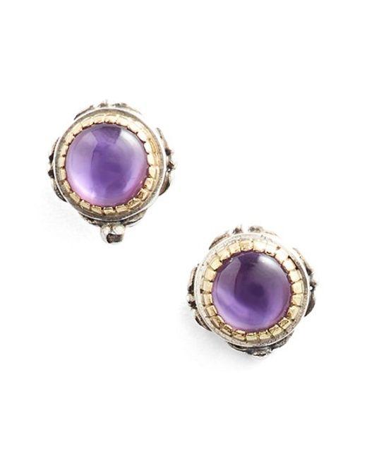 Konstantino | Purple 'erato' Stud Earrings | Lyst