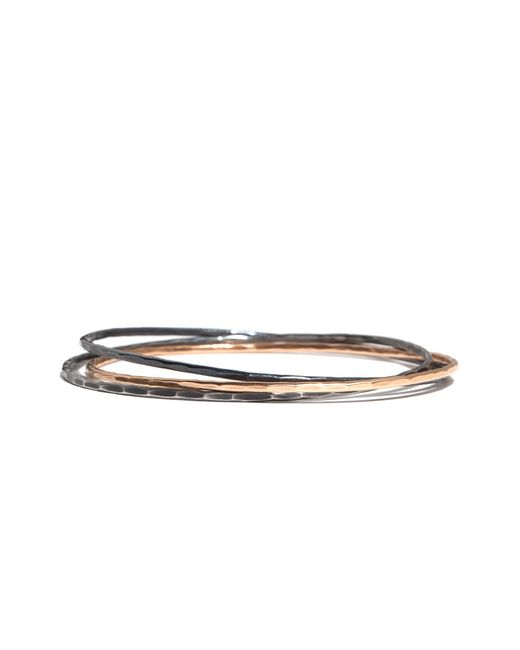 Melissa Joy Manning | Metallic Interlocking Black Oxidized Silver Bangles | Lyst