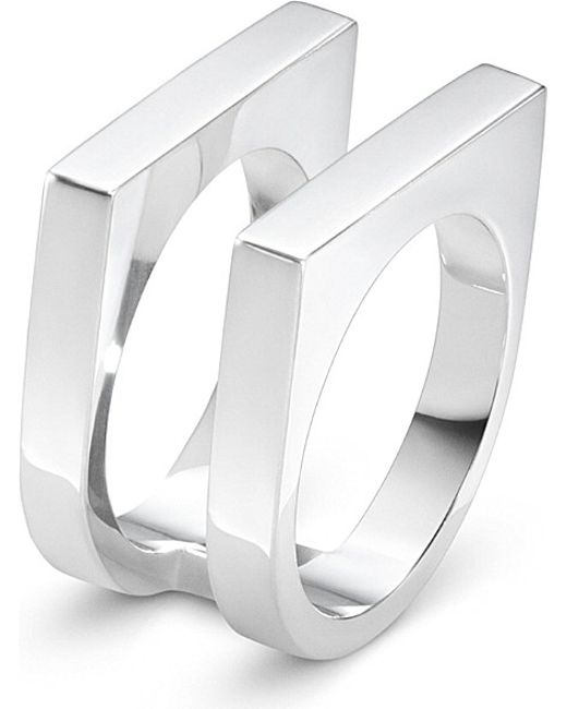 Georg Jensen | Metallic Aria Sterling Silver Two Row Ring | Lyst