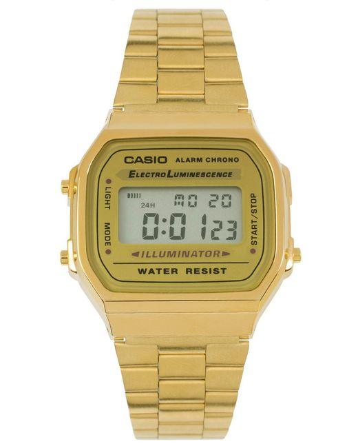 G-Shock   Metallic A168wg-9ef Gold Plated Digital Watch - Gold   Lyst