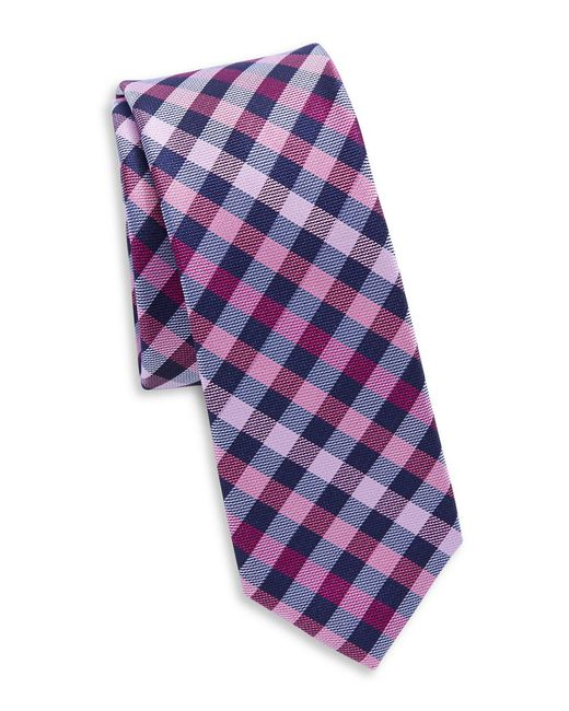 Original Penguin | Pink Silk Plaid Tie for Men | Lyst