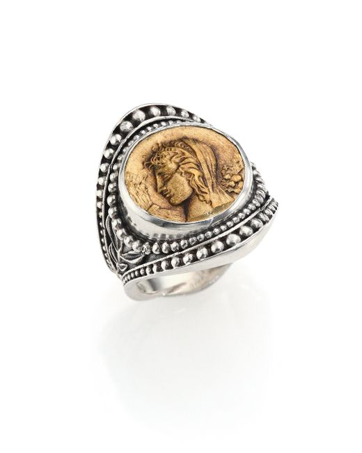 Konstantino | Metallic Kerma Bronze & Sterling Silver Coin Ring | Lyst