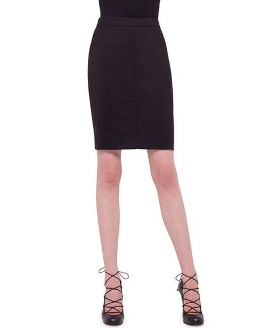 akris punto techno cotton pencil skirt in black save 40