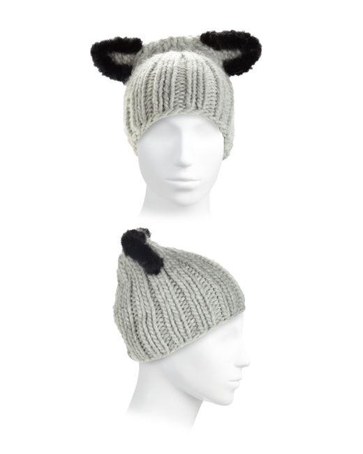 Eugenia Kim | Black Felix Fur-trim Cat-ear Skull Cap | Lyst