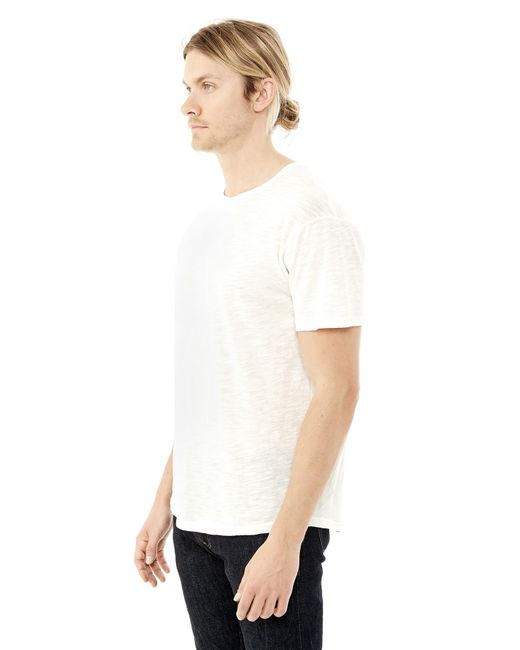 Alternative Apparel | White Postgame Washed Slub Crew T-shirt for Men | Lyst
