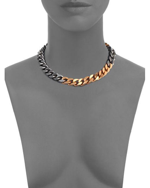 Vita Fede | Metallic Franco Two-tone Link Necklace | Lyst