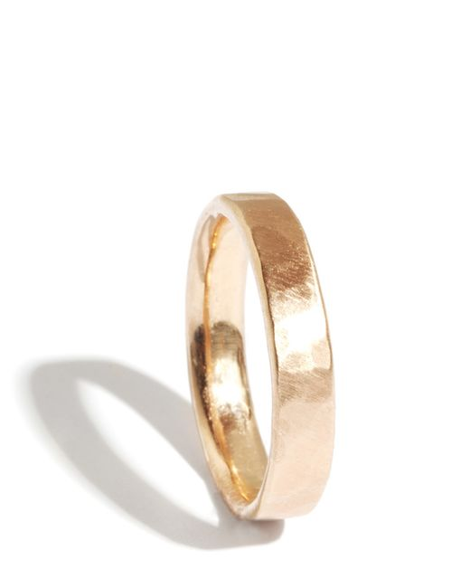 Melissa Joy Manning | Metallic 18k Gold Hammered Texture 4mm Ring | Lyst