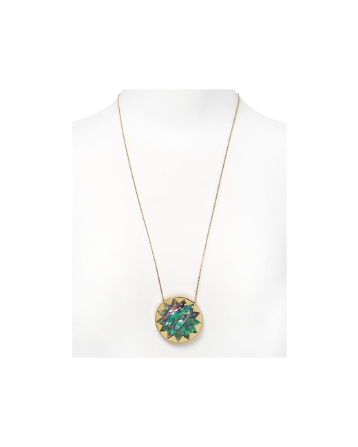 House of Harlow 1960 | Multicolor 1960 Sunburst Pendant Necklace, 26"