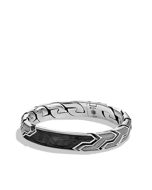 David Yurman | Black Forged Carbon Id Bracelet for Men | Lyst