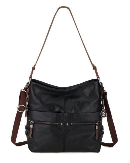 The Sak | Black Sanibel Leather Bucket Hobo Bag | Lyst