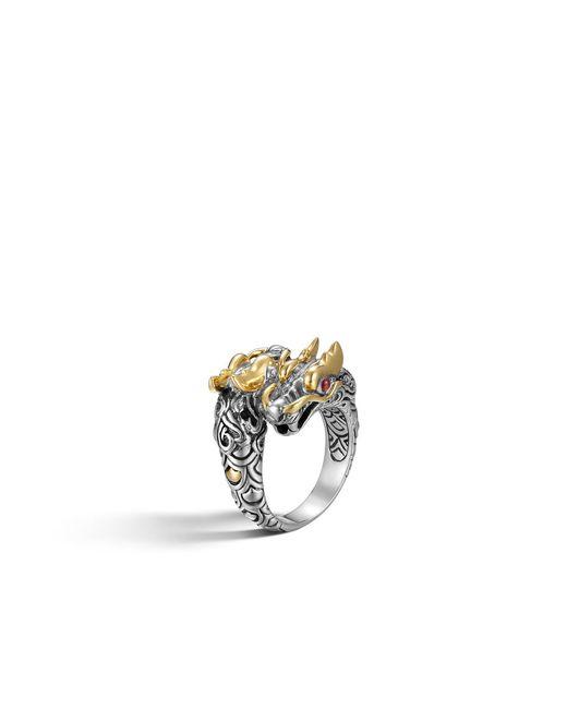 John Hardy | Metallic Legends Naga Double Dragon Head Ring | Lyst